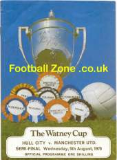watney cup hull city vs man.utd 1970