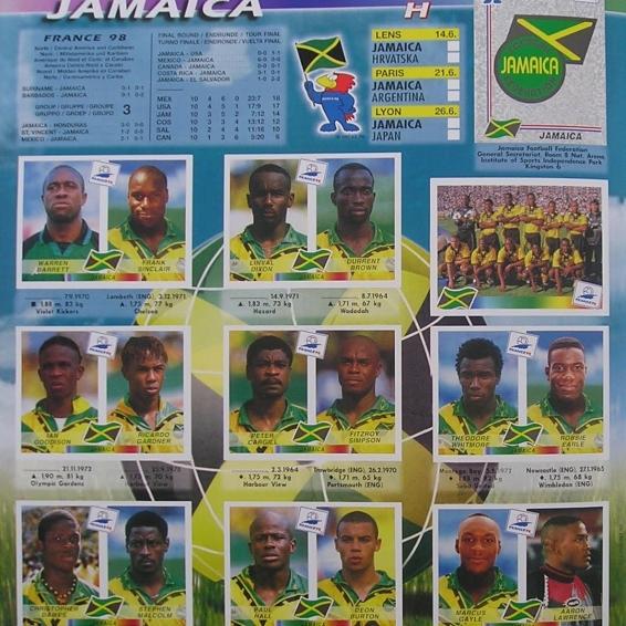 cromos jamaica 98