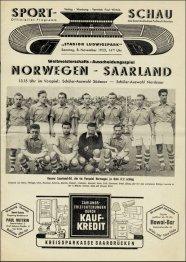 norwegen - saarland 1954