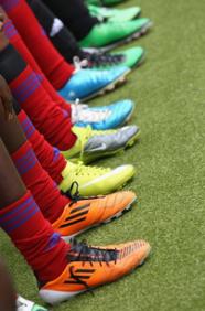 Botas de las jugadoras de Guinea Ecuatorial (Mundial 2011)